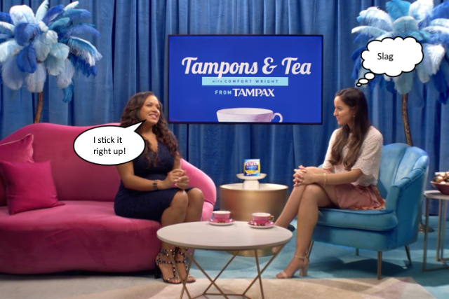 tampax advert